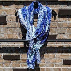 🌀Stella & Dot Ikat print scarf wrap sarong